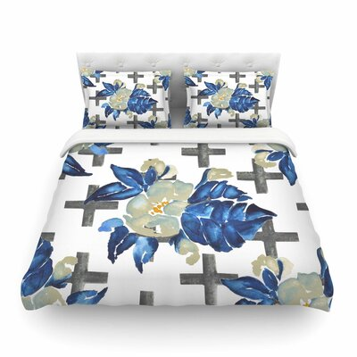 Jennifer Rizzo Plus Sign Floral Floral Featherweight Duvet Cover Size: Twin