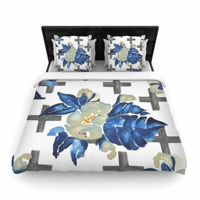 Jennifer Rizzo Plus Sign Floral Floral Woven Duvet Cover Size: King