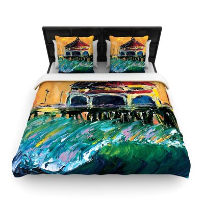 Josh Serafin Offshore Beauty Coastal Woven Duvet Cover Size: Full/Queen