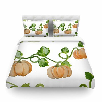 Jennifer Rizzo Trio of Fall Pumpkins Painting Featherweight Duvet Cover Size: Twin