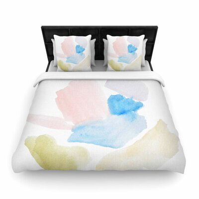 Jennifer Rizzo Confetti Abstract Woven Duvet Cover Size: Full/Queen