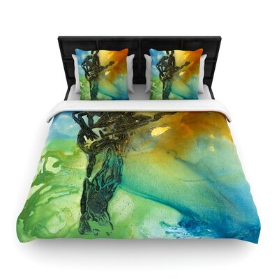 Josh Serafin Rhythm Guitar Player Woven Duvet Cover Size: Twin