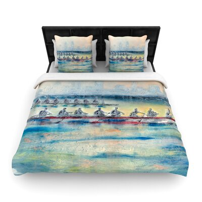 Josh Serafin Crew Rowing Woven Duvet Cover Size: Full/Queen
