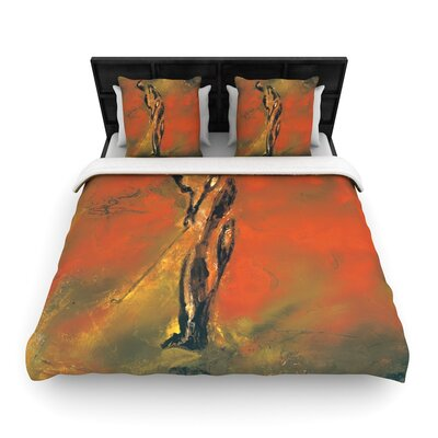 Josh Serafin Chip Golf Player Woven Duvet Cover Size: Twin