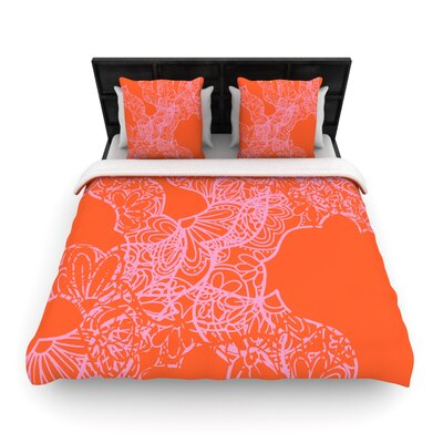 Patternmuse Mandala Pumpkin Woven Duvet Cover Size: Full/Queen