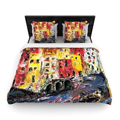 Josh Serafin Cinque Terre Woven Duvet Cover Size: King