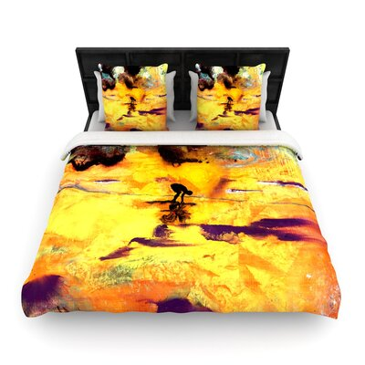 Josh Serafin Pool of Life Abstract Woven Duvet Cover Size: King