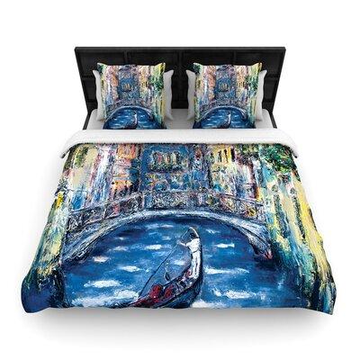 Josh Serafin Venice Travel Italy Woven Duvet Cover Size: Full/Queen