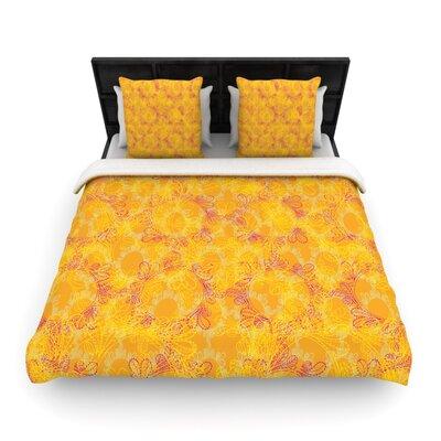 Patternmuse Jaipur Saffron Woven Duvet Cover Size: King