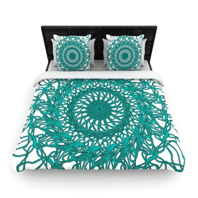 Patternmuse Mandala Spin Woven Duvet Cover Size: Twin