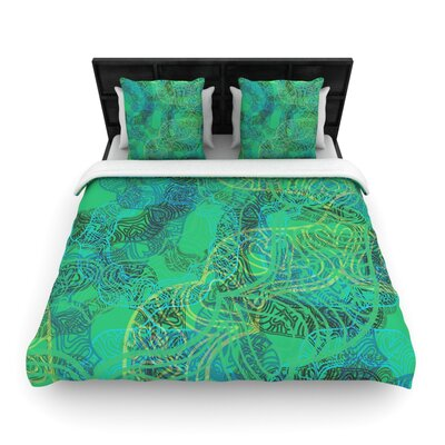 Patternmuse Mandala Abstract Woven Duvet Cover Size: Twin