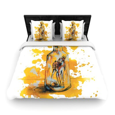Kira Crees Vintage Bottled Deer Woven Duvet Cover Size: King