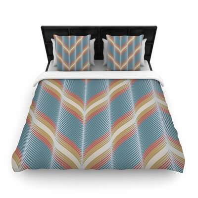 Karina Edde Wavy Chevron Woven Duvet Cover Size: Full/Queen
