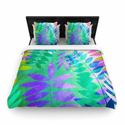 Jessica Wilde Jungle Woven Duvet Cover Size: King