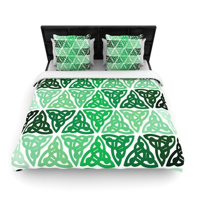 Celtic Knot Forest Woven Duvet Cover Size: King