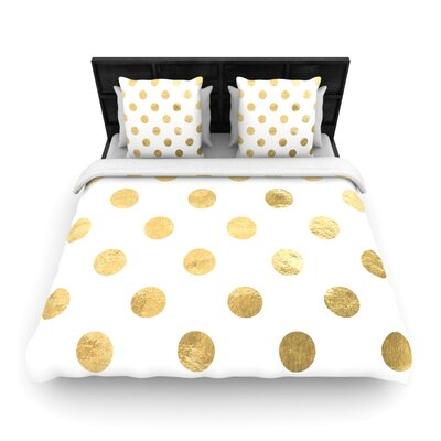 Scatte Woven Duvet Cover Color: Gold