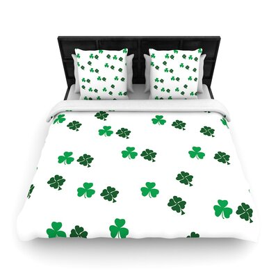 Shamrockin St. Patrick Woven Duvet Cover Size: Twin