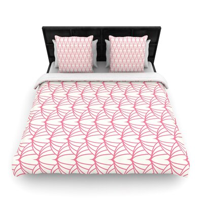 Stitches Woven Duvet Cover Size: King