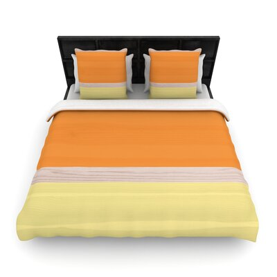Spring Swatch Wood Woven Duvet Cover Size: Twin