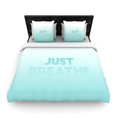 Just Breathe Woven Duvet Cover Size: Twin