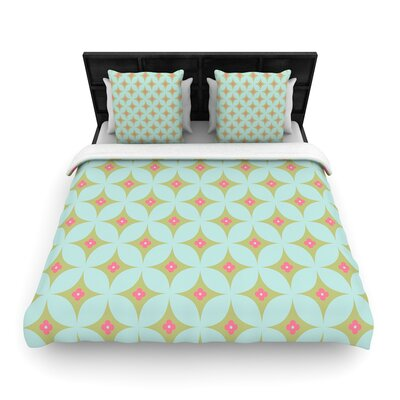 Aquamarine Woven Duvet Cover Size: Full/Queen