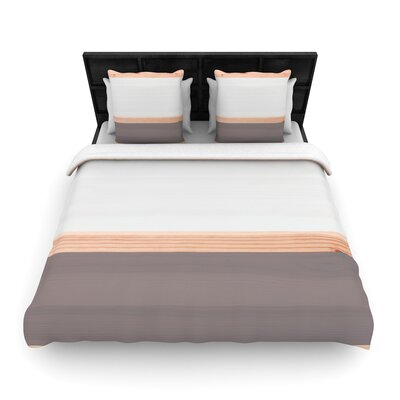 Spring Swatch Wood Woven Duvet Cover Size: King, Color: Gray