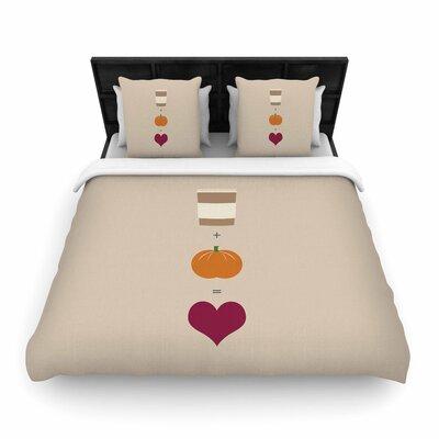 Pumpkin Spice Latte Woven Duvet Cover Size: Twin