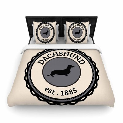 Dachshund Woven Duvet Cover Size: Full/Queen