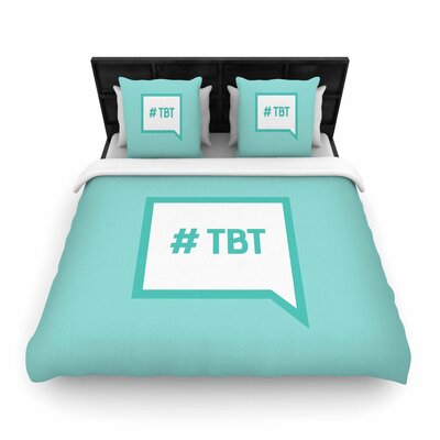 Throw Back Thursday Woven Duvet Cover Size: King