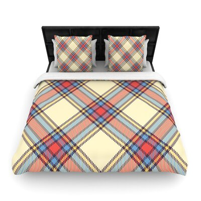 Sunday Brunch Plaid Tartan Woven Duvet Cover Size: Full/Queen