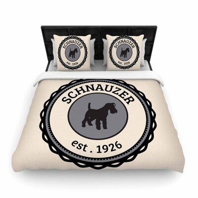 Schnauzer Woven Duvet Cover Size: Twin