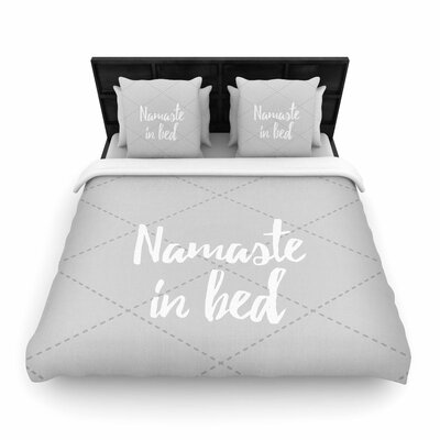 Namaste in Bed Woven Duvet Cover Color: Gray