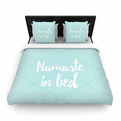 Namaste in Bed Woven Duvet Cover Size: King, Color: Teal