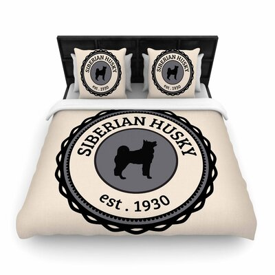 Husky Husky Dog Woven Duvet Cover Size: Full/Queen