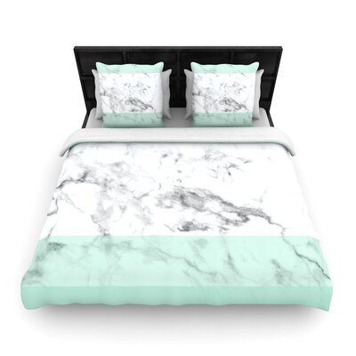 Marble Fade Woven Duvet Cover Size: Full/Queen