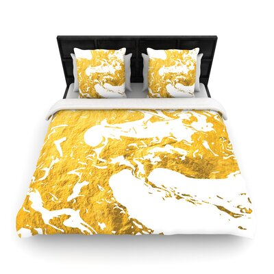 Ink on Water Metal Woven Duvet Cover Size: Full/Queen