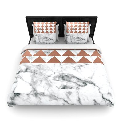 Marble & Metal Woven Duvet Cover Size: Full/Queen