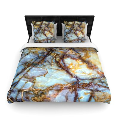 Opalized Marble Woven Duvet Cover Size: King