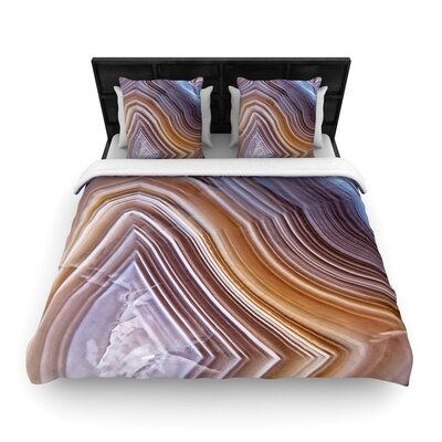 Pale Laye Agate Woven Duvet Cover Size: Full/Queen