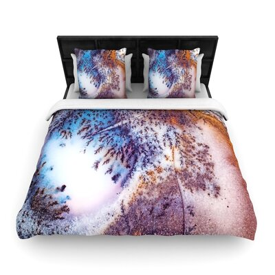 Snow Agate Woven Duvet Cover Size: Full/Queen