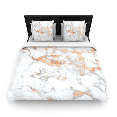 Rose Flake Woven Duvet Cover Size: Full/Queen