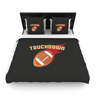 Touchdown XLVI Sports Football Woven Duvet Cover Size: King