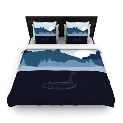 Swimming with Nessie Fantasy Woven Duvet Cover Size: Full/Queen