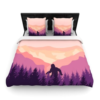 Big Foot Woven Duvet Cover Size: Twin
