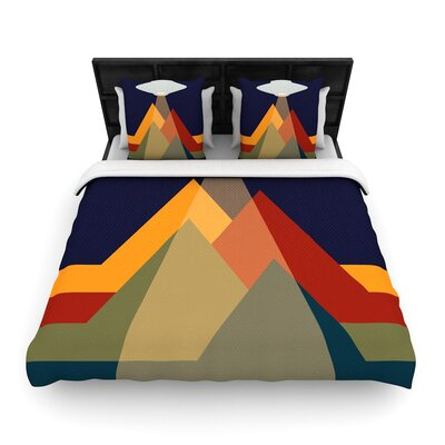 Abduct Me Geometric Fantasy Woven Duvet Cover Size: King