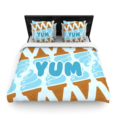 Yum! Ice Woven Duvet Cover Size: King