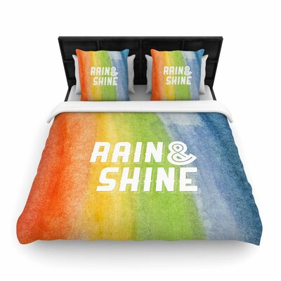 Rain & Shine Abstract Woven Duvet Cover Size: King