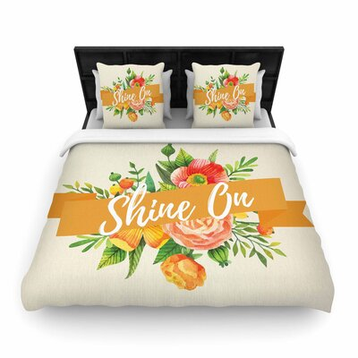 Shine on Woven Duvet Cover Size: King