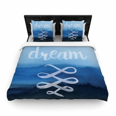 Dream Typography Woven Duvet Cover Size: Full/Queen