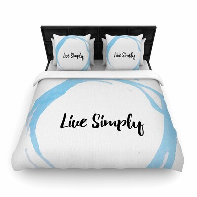 Live Simply Woven Duvet Cover Size: King